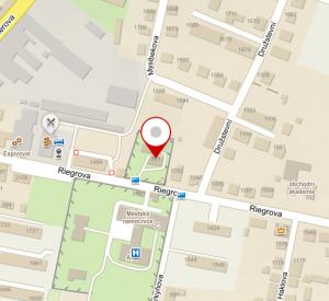 Mapa umístění ordinace